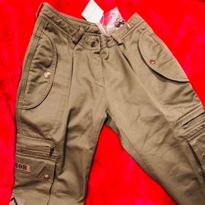 Dior Girls' Cargo Pants, NWT, Size 12A, Green
